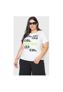 Camiseta Colcci Logo Branca