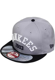 485deddbfe406 Boné New Era Aba Reta Snapback Mlb Ny Yankees Arch - Unissex