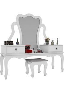 Penteadeira Com Banco | Banqueta Elizabeth 2 Gv Branco