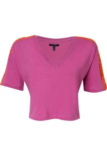 Camiseta Rosa Chá Cindy Ii Feminina (Grape Juice, M)
