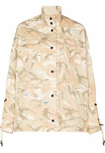 Off-White Jaqueta Militar Com Estampa Camuflada - Neutro