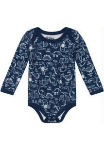 Body Infantil Básico Suedine Azul