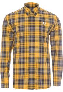 Camisa Masculina Tartan - Amarela