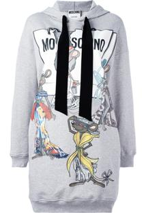Moschino Vestido Moletom 'Rat-A-Porter' - Grey