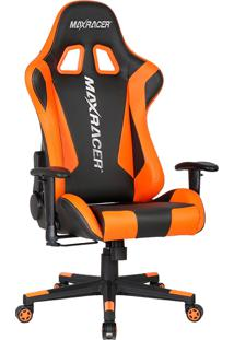 Cadeira Gamer Reclinável Max Racer Skilled Ski-4 Laranja E Preta