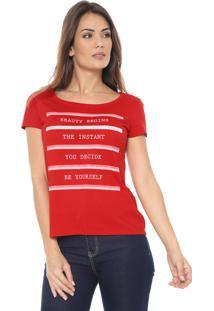Camiseta Malwee Lettering Vermelha
