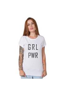 Camiseta Stoned Girl Power Branca