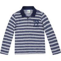 6c8947e7a1 Camisa Polo Infantil Menino Mangas Longas Em Malha De Ribana Puc