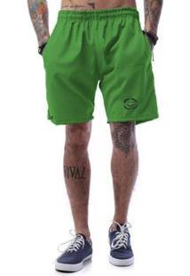 Bermuda Tactel Cellos Corp Premium Masculina - Masculino-Verde Escuro