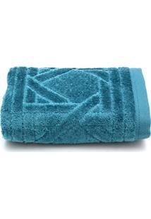 Toalha De Rosto Santista Unique Benício Fio Penteado 50Cmx70Cm Azul
