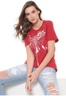 Camiseta Cavalera Águia Respingos Vermelha