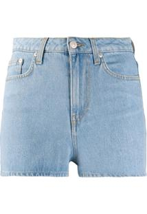 Chiara Ferragni Fitted Denim Shorts - Azul