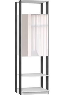 Estante Armário C/Espelho Branco Tx/Expresso Be Mobiliário