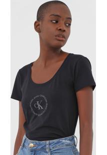 Camiseta Calvin Klein Jeans Logo Preta - Kanui