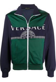 Versace Medusa Logo Bomber Jacket - Azul