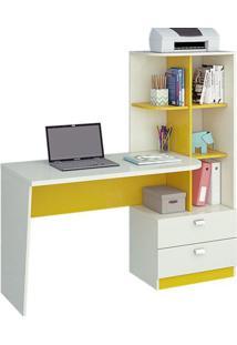 Escrivaninha Elisa - Branco Com Amarelo