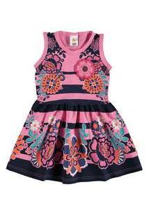 Vestido Infantil Flores Zig Zig Zaa