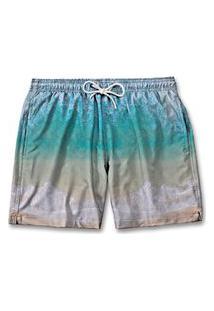 Bermuda Moda Masculina Short Praia Degrade Tactel Verão
