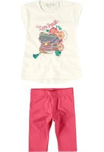 Conjunto Infantil Trends Carinhoso Cor  Creme - Tam.  01 7696e53c38a