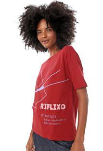 Camiseta Cantão Etimologia Reflexo Vermelha