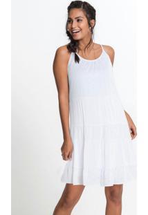Vestido Com Recortes E Laise Branco