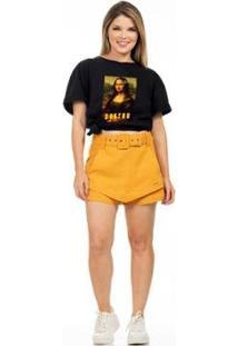 Camiseta Clara Arruda Sextou Feminina - Feminino-Preto