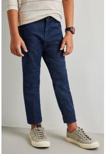 Calça Mini Sm Jeans Forrada Reserva Mini Azul