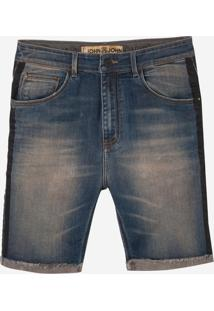 Bermuda John John Rock Panama 3D Jeans Azul Masculina (Generico, 44)