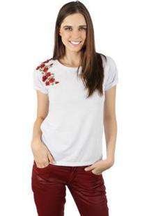 Camiseta Lat Rosas Feminina - Feminino