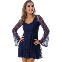 6923df116a Dafiti. Vestido B Bonnie Curto De Renda Sara Azul Marinho