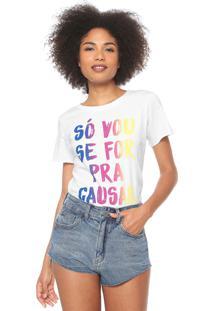 Camiseta Coca-Cola Jeans Causar Branca
