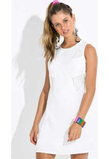 Vestido Curto Sem Manga Branco