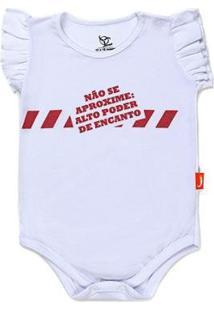 Body Jokenpô Bebê Não Se Aproxime Feminino - Feminino-Branco