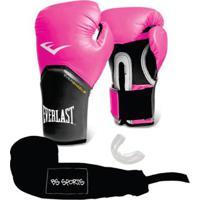 0d50014f41912 Kit Luva Everlast Pro Style Elite 12Oz+Bandagem+Bucal - Unissex