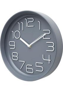 Relógio Pearl Cinza E Branco 30X30X5,6 Cm