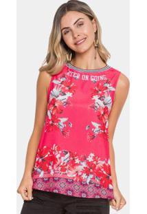 e960b2f546 Regata Floral Malha E Tecido Rosa Lunender
