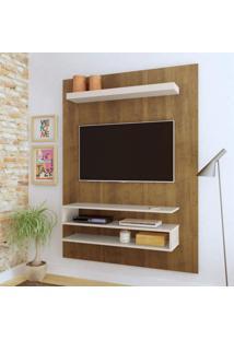Painel Para Tv Até 42 Polegadas Orion Artely Pinho/Off White