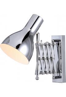 Arandela Em Metal Cromado 60X14X28Cm