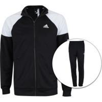 Agasalho Adidas Mts Pes Marker - Masculino - Preto Branco bf4776e1d8bd0