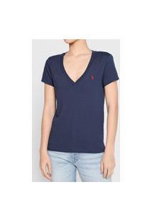 Camiseta Polo Ralph Lauren Logo Azul-Marinho