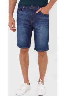 Bermuda Jeans Lacoste Reta Estonada Azul - Azul - Masculino - Algodã£O - Dafiti