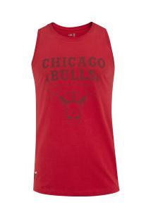 Camiseta Regata New Era Chicago Bulls Essentials - Masculina - Vermelho