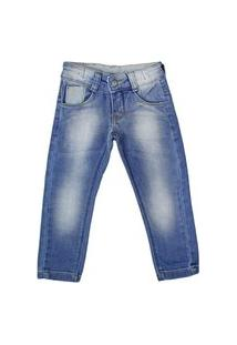Calça Jeans Infantil Oznes Menino Azul