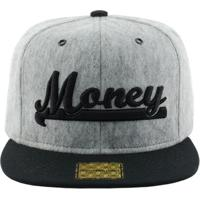 Boné Aba Reta Young Money Snapback Ym Veludo - Unissex-Cinza 76d9549d635