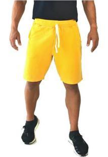 Bermuda Moletom Brohood Amarelo Masculino - Masculino-Amarelo