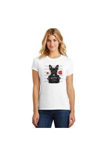 Camiseta Feminina T-Shirt Pets Bulldog Francês Guilty Of Love