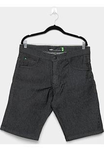 Bermuda Jeans Hd Neon Masculina - Masculino-Preto