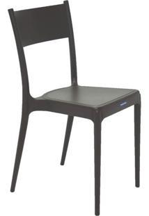 Cadeira Com Encosto Fechado Diana Summa Marrom