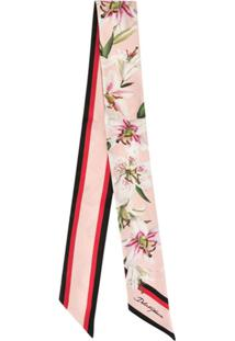 Dolce & Gabbana Headband Estampado Lily - Rosa