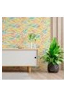 Papel De Parede Adesivo Abstrato N013014 Rolo 0,58X3M